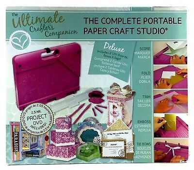 New The Ultimate Crafter's Companion Complete Portable Paper Craft Studio DVD