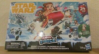 Disney Star Wars Micro Force Advent Calendar 24 Figures 4 Exclusive Holiday HTF
