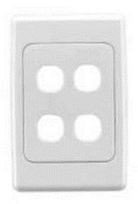 Clipsal 2000-SERIES STANDARD FLUSH PLATE 116x76mm 4-Gang With Surround WHITE