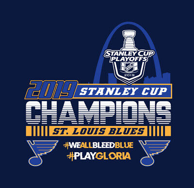 St. Louis Blues Stanley Cup Champions shirt Play Gloria We All Bleed Blue NHL
