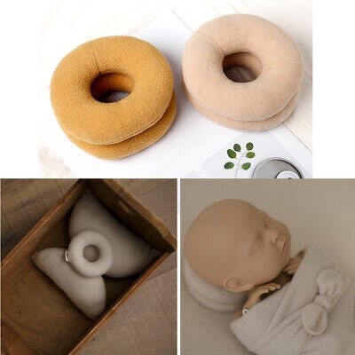 2pc Round Donut Newborn Posing Support Pillow Baby Photo Shoot Photography Props