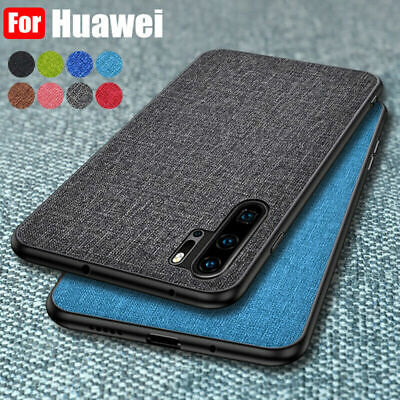 Cloth Fabric Hybrid Hard Case Cover For Huawei P30 Pro P20 Mate 20 Lite Nova 3i