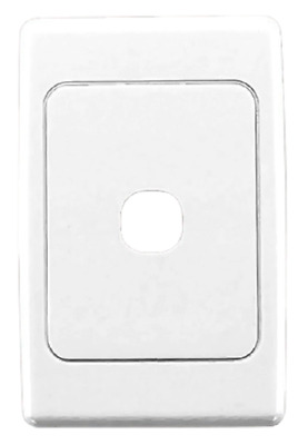 Clipsal 2000-SERIES STANDARD FLUSH PLATE 1-Gang With Surround TRANSPARENT