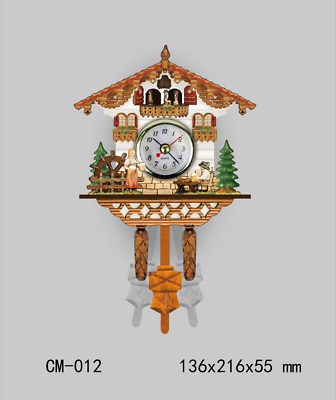 LE German Cuckoo Clock European Style Wall Clock Living Room Retro Designs