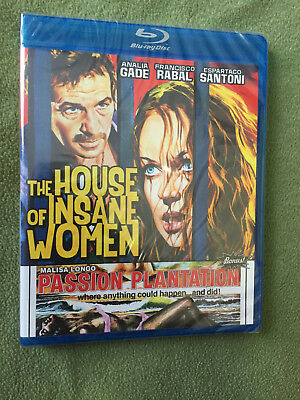 Free*Postage NEW The House Of Insane Women / Passion Plantation Blu Ray Code Red
