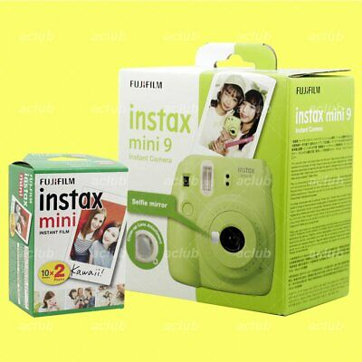 Fujifilm Instax Mini 9 Instant Film Camera (Lime Green) with 20 Sheets