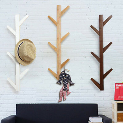 Tree Style Wall Mounted Hanger Coat Hat Jacket Rack Hook Home Hangings Art Decor