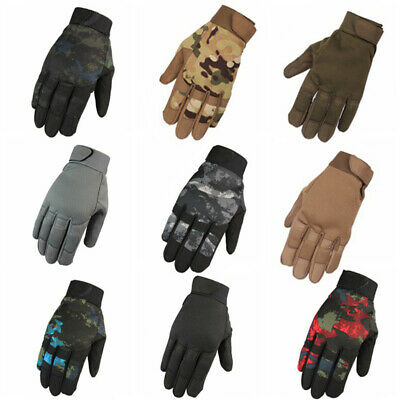 Military Tactical Airsoft Shooting Gear Riding Hunting Full Finger Gloves UK