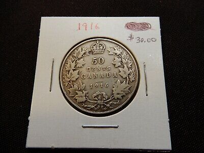1916 Canada Fifty Cent Coin