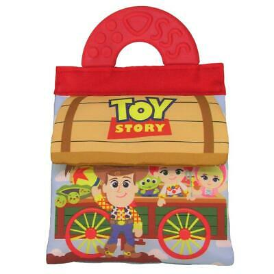 NEW Disney Toy Story Soft Baby Cloth Book w/ Teether Handle