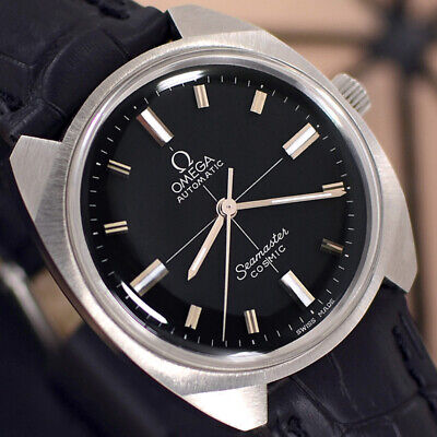 VINTAGE OMEGA Seamaster COSMIC AUTOMATIC CROSS HAIR DIAL ANALOG DRESS MENS WATCH