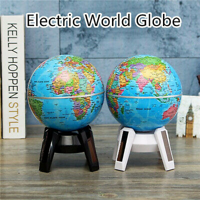 Electric Auto World Globe Rotating Earth Map Geography Kids Learning Desk Decor