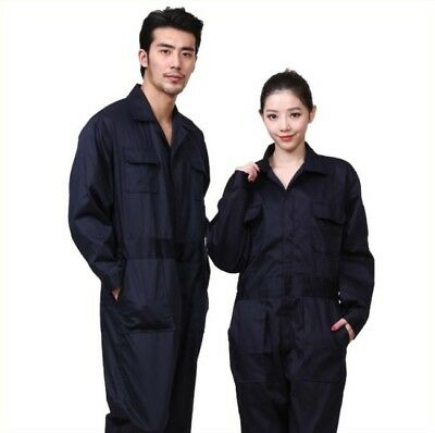 Men's Breathable One-piece Cotton Work Coat Tooling  Suit Coveralls Pockets L-3X
