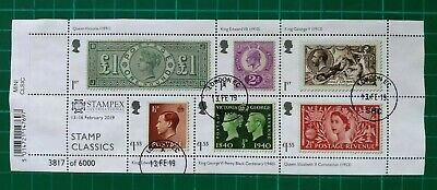 STAMPEX Overprint RPSL Anniversary 2019 Stamp Classics Miniature Sheet USED EC
