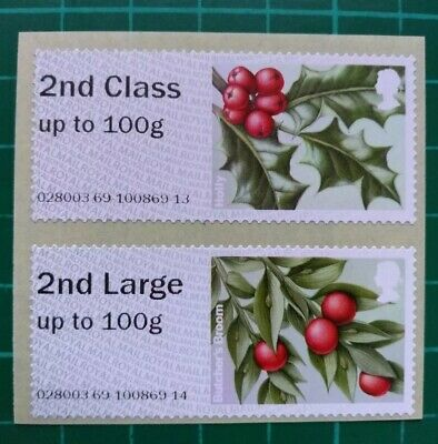 R17YAL Winter Greenery Post & Go 2nd Class Collector Pair on 1st stock