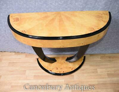 Art Deco Console Table Half Round Hall Tables 1920s