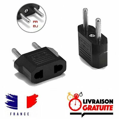 Adaptateur prise USA vers France, americaine vers francaise, US vers Europe EU