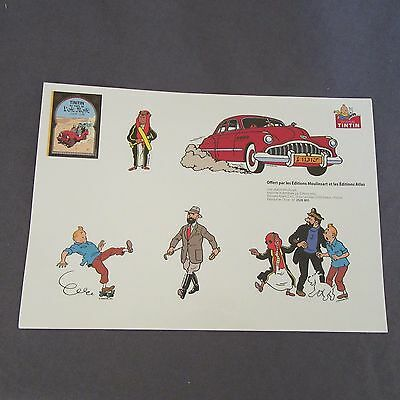 573E Board Sticker Atlas Tintin in Pays de L' or Black Moulinsart