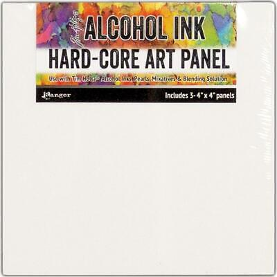 Tim Holtz Alcohol Ink Hard Core Art Panel - 4x4 - Pack of 3