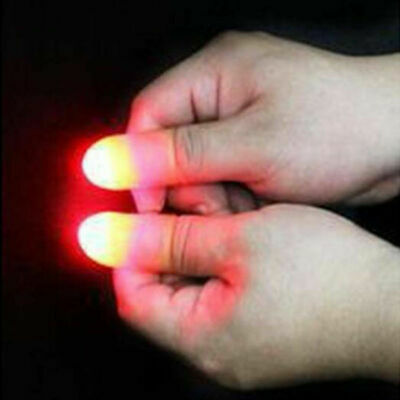 2 x LED Finger Thumbs Light Magic Prop Party Bar Show Lamp Trick Appearing Light