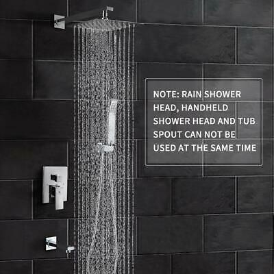 "HIMK Shower Faucet Set Tub Spout and 10"" Rain Shower Head Wall Mounted Shower"