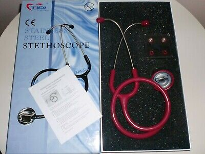 TENSO Medical Doctor Nurse Cardiology Stainless Steel Stethoscope DIA01020C