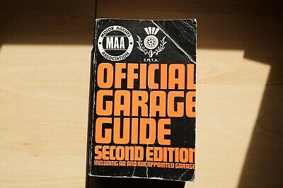 Official Garage Guide by Motor Agents association plus 3 AA books