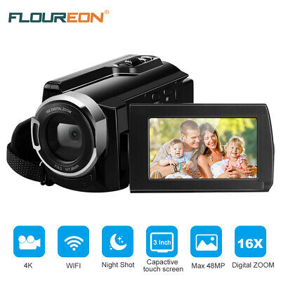 4K WIFI Videocamera Camcorder 1080P visione notturna Hotspot 16xZOOM DV Touching