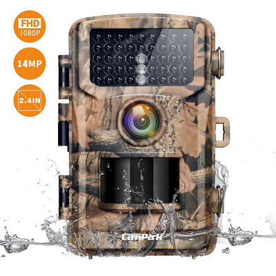 Campark Trail Camera 14MP Wildlife Scouting Hunting Camera Night Vision Game Cam