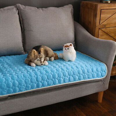 Dog Cooling Mat Pet Cat Chilly Non-Toxic Summer Cool Bed Pad Cushion 4 Sizes