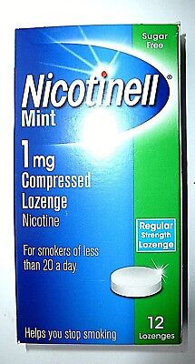 Nicotinell Mint Compressed Lozenges 1mg x 12 X 2 PACKS