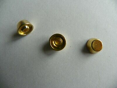 15 x DOMED FLAT TOP STUDS FOR LEATHERWORK 8mm x 5mm Gold coloured