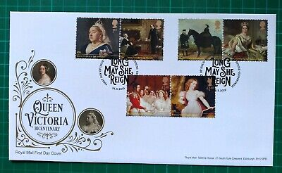 2019 Queen Victoria Bicentenary Set of 6 on FDC Tallents House PMK