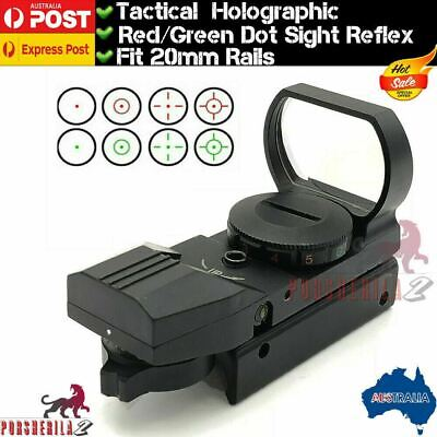 Tactical Red Green Dot Sight Reflex 20mm Holographic Metal Scope For Gel Blaster