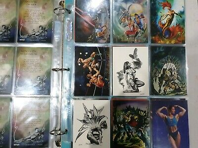 1994 Julie Bell Cardz Full Set with Tekchrome set. MINT