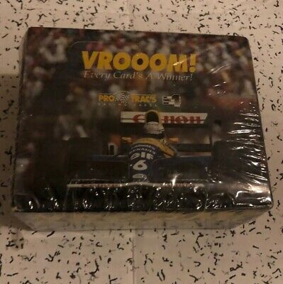 Vroom! Pro Trac Formula One Racing Trading Card Wax Box
