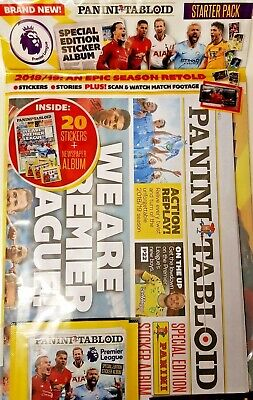 Panini Tabloid Starter Pack Special Ed Sticker Album 2018/2019 Premier League