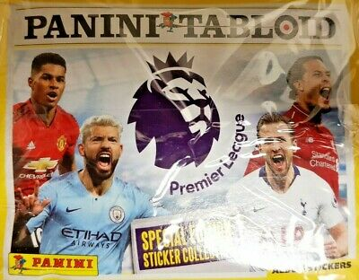 Panini Tabloid Special Edition Stickers = Premier League = Full Box = 50 Packet