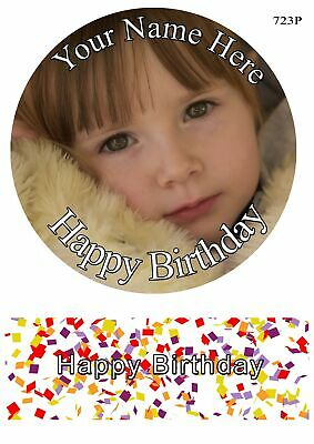 Your own Photo Edible Round Cake Topper Birthday Wafer sheet, icing sheet.23
