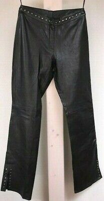 Butter soft CACHÉ embellished black genuine leather pants women's size 2US  D2