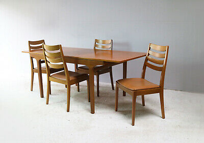 1970's mid century Nathan dining table and 6 chairs