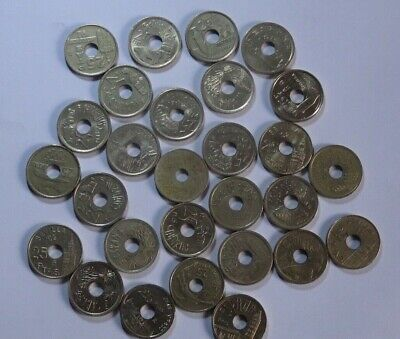 Spain 28 x 25 Peseta Coins with Holes Collection Various Designs Ref FBC7065