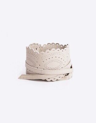 Seraphine Champagne Leather Lace Maternity Belt Size S/M