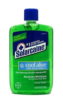 Solarcaine Cool Aloe Burn Relief with Aloe Vera, 8 Ounce 226g After-Sun Gel