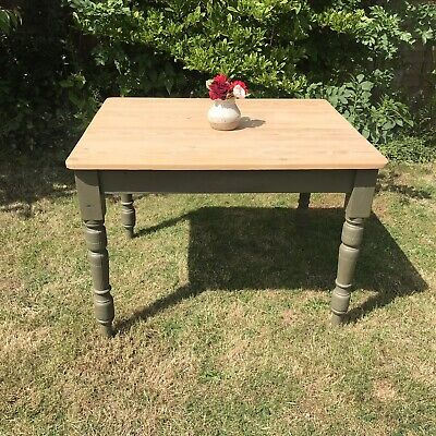Vintage/Old Pine Table Painted Legs Annie Sloan Shabby Chic Farmhouse
