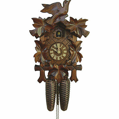 Original German Cuckoo Clock 8-day-movement Carved-Style 34cm by Anton Schneider