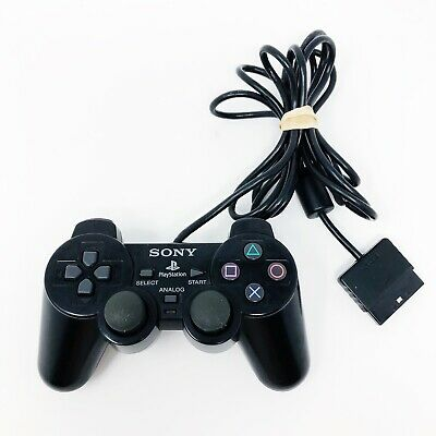 Sony PlayStation 2 PS2 Black Controller SCPH-10010 Dual Shock 2 Wired