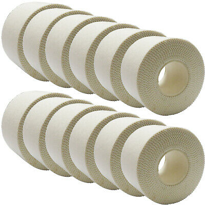 12 x 3.8cm x 10m CMS Easy Rip Sports Medical Grade Zinc Oxide White Tape