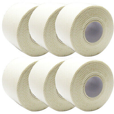 6 x CMS Strong Support Adhesive Zinc Oxide Joint Sports Medical Tape, 5cm x 5m