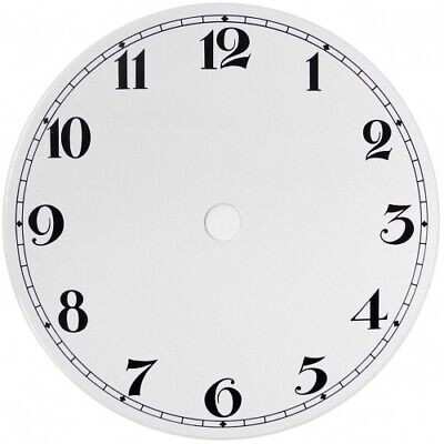 NEW White Replacement Clock Dial 5 inches 127mm Arabic Figures Clocks - CD35
